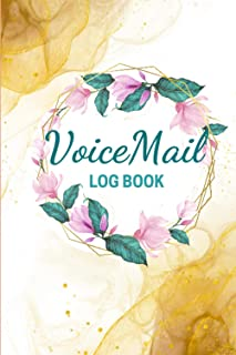 Voicemail Log Book: Daily telephone Memo message tracker record and contact Log Book with calendar   Office Hotel Supplies...