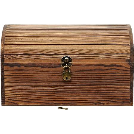 WINBST Petite bo/îte de Rangement pour Bijoux avec Serrure en Bois Vintage Coffre au tr/ésor d/écoratif