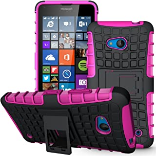 Lumia 640 Case,Nokia 640 Case, Sophmy Hybrid Dual Layer Armor Protective Case Cover with kickstand for Microsoft Lumia 640 (pink)