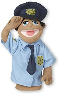 Melissa & Doug Police Officer Puppet (Detachable Wooden Rod for Animated Gestures, Ideal for Left- or Right-Handed Children, Great Gift for Girls and Boys - Best for 3, 4, 5 Year Olds and Up)