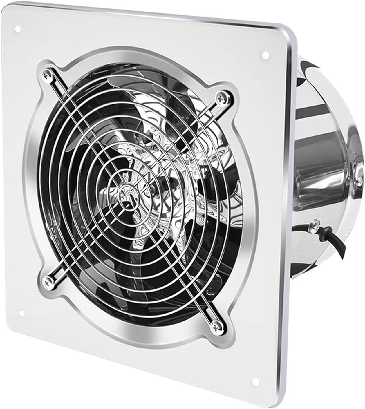 Ventilador Extractor 6''7''8 '' Booster extractor de humos Extintor Tubo de la ventilación del ventilador de baño WC Cocina pared de la ventana del acero inoxidable de ventilación del conducto del ven