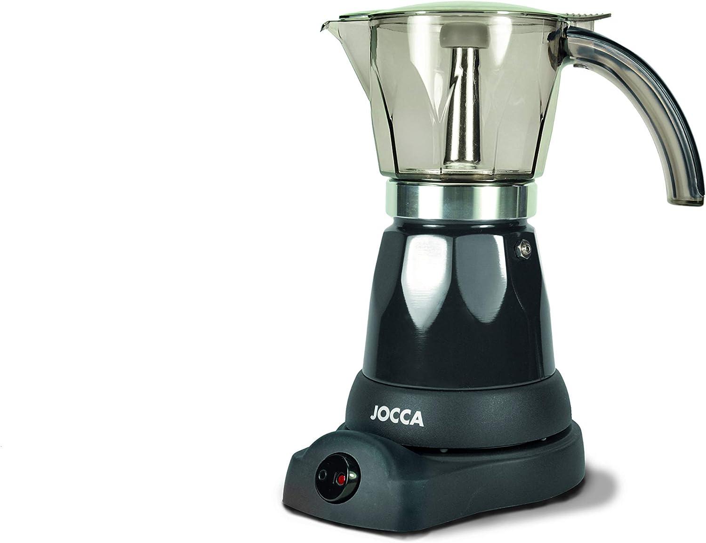 Jocca - Cafetera Italiana Eléctrica   6 Tazas   Sin Cables   Giro 360º   Jarra con Asa de Frío