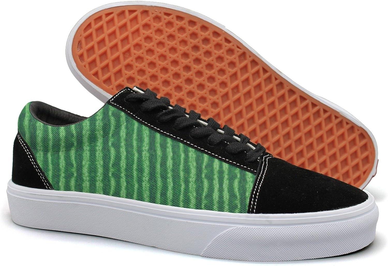 Green Watermelon Rind Women Casual Sneakers Footwear Slip On Cute Gym