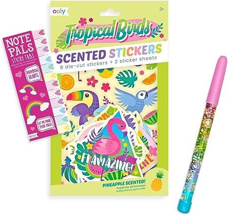 Ooly Happy Pack Scented Scratch Stickers Glitter Stick Sticky Tabs Heart Girl Power Happy Pack Bürobedarf Schreibwaren