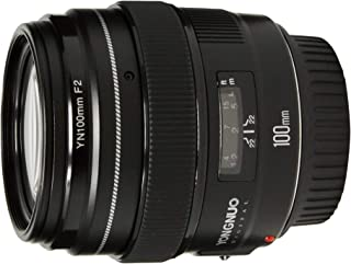 YONGNUO YN100mm F2 Medium Telephoto Prime Lens with AF MF 100mm Fixed Focal Length Aperture F/2~F/22 for Canon EOS Rebel C...