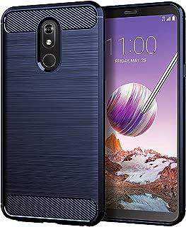 LG Stylo 5 Case,LG Stylo 5V Case,LG Stylo 5 Plus Case,Asmart Shock Absorption LG Stylo 5 Phone Case Slim Flexible TPU Cover Soft Lightweight Carbon Fiber Protective Case for LG Stylo 5 Plus/5V, Blue