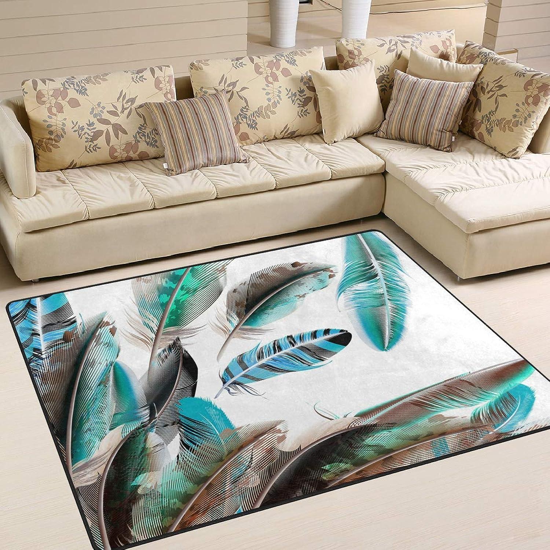 MALPLENA Graceful Feather Area Rug Anti Slip pad Entry Way Door Mat Floor Mats shoes Scraper