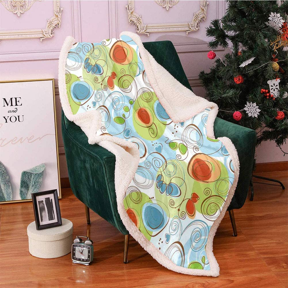 SeptSonne Modern Plush Blanket Milwaukee Mall Jacksonville Mall Floral Flowers Geometrical A with