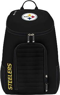 "Officially Licensed NFL Pittsburgh Steelers ""Topliner"" Backpack, Black, 19"" x 7"" x 11"""