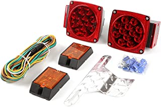 CZC AUTO 12V LED Submersible Trailer Tail Light Kit for Under 80 Inch Boat Trailer RV Marine (Exclusive Trailer Light kit)
