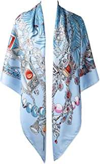 50 Inches 130cm Large Square Twill Oversize Winter Scarfs Big Shawls Evening Wraps for Women