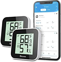AirComfort Grey Hygrometer and Thermometer for Home with Notification on iOS and Android Devices