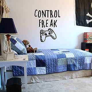 "Vinyl Wall Art Decal - Control Freak - 29"" x 23"" - Gaming Accessory Decor for Boy Girl Teens Bedroom Adhesive Decor - Cool..."