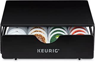Keurig Slim Non-Rolling Storage Drawer, Coffee Pod Storage, Holds up to 24 Keurig K-Cup Pods, Black
