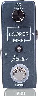 Rowin Vintage Looper–Pedal de Efectos para Guitarra Unlimited Overdubs 10minutos de Looping con cable USB