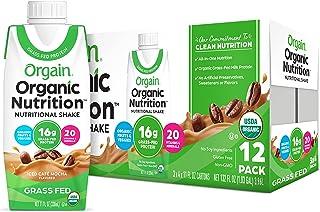 Orgain Organic Nutritional Shake, Iced Cafe Mocha - 16g Protein, 20 Vitamins & Minerals, Gluten Free, Soy Free, Kosher, No...