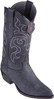 Men's J-Toe Genuine Leather Teju Lizard Skin Western Boots