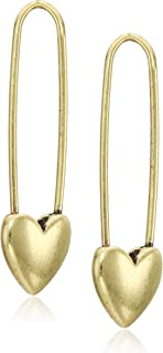 Lucky Brand Women's Safety Pin Earrings, Gold, One Size