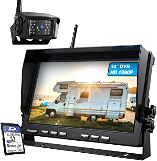 $239 » ZEROXCLUB 10'' 1080P Wireless RV Backup Camera System with DVR,10 Inch Large Monitor Support Up to 4 Wireless Cameras,IP69...