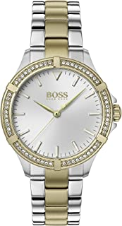 Hugo Boss Women's Silver White Dial Two Tone Stainless Steel Watch - 1502467