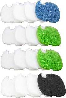 AQUANEAT Canister Filter Pads for SUNSUN HW-402B/505B Generic Compatible Sponges Floss Foam Aquarium Filter Media 16pcs