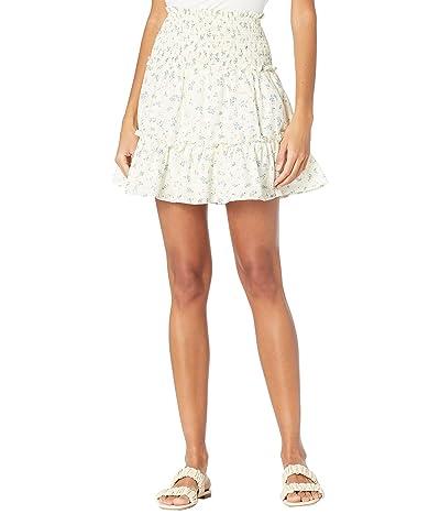 1.STATE Smocked Waist Tiered Ruffle Mini Skirt