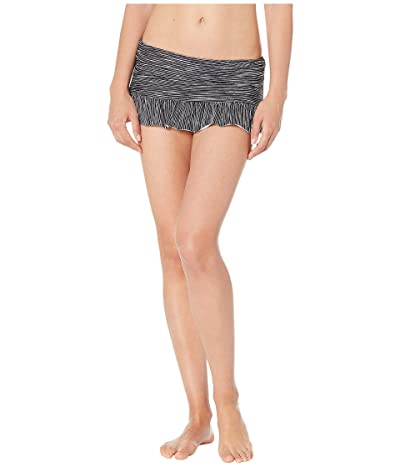 La Blanca Ripple Waves Ruffle Skirt Bottoms (Black) Women