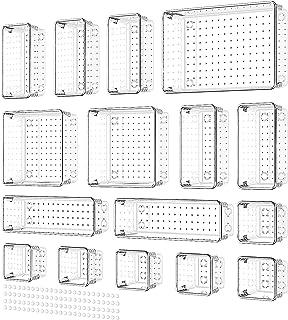 Yosemy 16 pièces Organisateur Tiroir Bureau,Transparent Organisateur de Tiroir avec 100 Pieds Adhésifs Caoutchouc Plateaux...
