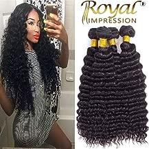 Brazilian Pineapple Deep Wave 4 Bundles 10A Brazilian Virgin Deep Wave Human Hair Bundles 100% Unprocessed Remy Virgin Hair Bundles Natural Color (20