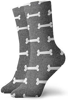 Hangdachang, Calcetines de lino con diseño de huesos de perro para niños y niñas