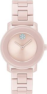 Movado Women's Pink Ceramic Dial Watch, 3600615