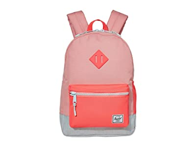 Herschel Supply Co. Kids Heritage Youth Backpack (Little Kids/Big Kids) (Peony/Neon Pink/Ballad Blue Pastel Crosshatch) Backpack Bags
