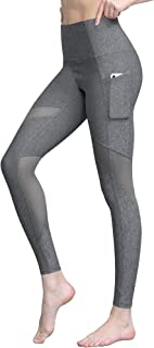 Lock and Love Women's Yoga Pants Tummy Compression Slimming Mesh Leggins with Pocket and Inner Pocket