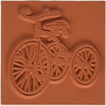 Deep Red Stamps Vintage Tricycle Rubber Stamp