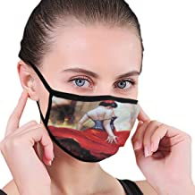Dust Mask Flamenco Spanish Dancer Gypsy Bright Red Dress Washable Reusable Anti Pollution Face Mouth Mask