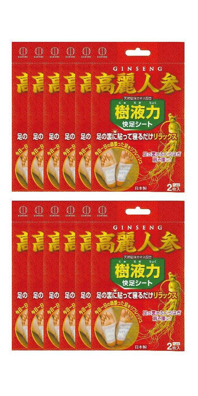 樹液力 高麗人参 快足シート (12個セット) S-602