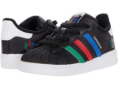 adidas Originals Kids Superstar EL I (Toddler) (Core Black/Green/Ftwr White) Kid