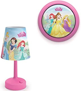 PHILIPS Disney Princess Table Lamp and Battery Power LED Push Touch Night Light