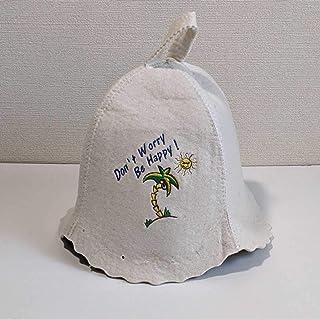サウナハット 新品 サウナー サ道 整った ヤシの木 ココナッツ 太陽 ヴィヒタ 帽子 バーニャ 未使用 SAUNA SAUNNER ととのう サウナ女子