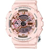 G-Shock Gold and Pink Dial Pink Resin Quartz Ladies Watch GMAS110MP-4A1