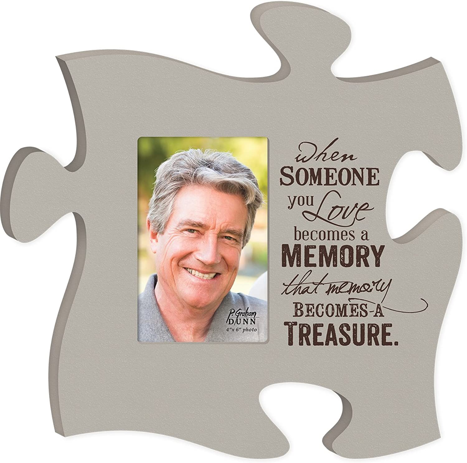 When Someone You   Becomes A Memory That Memory Becomes A Treasure Puzzle Piece 12 X 12 by P Graham Dunn