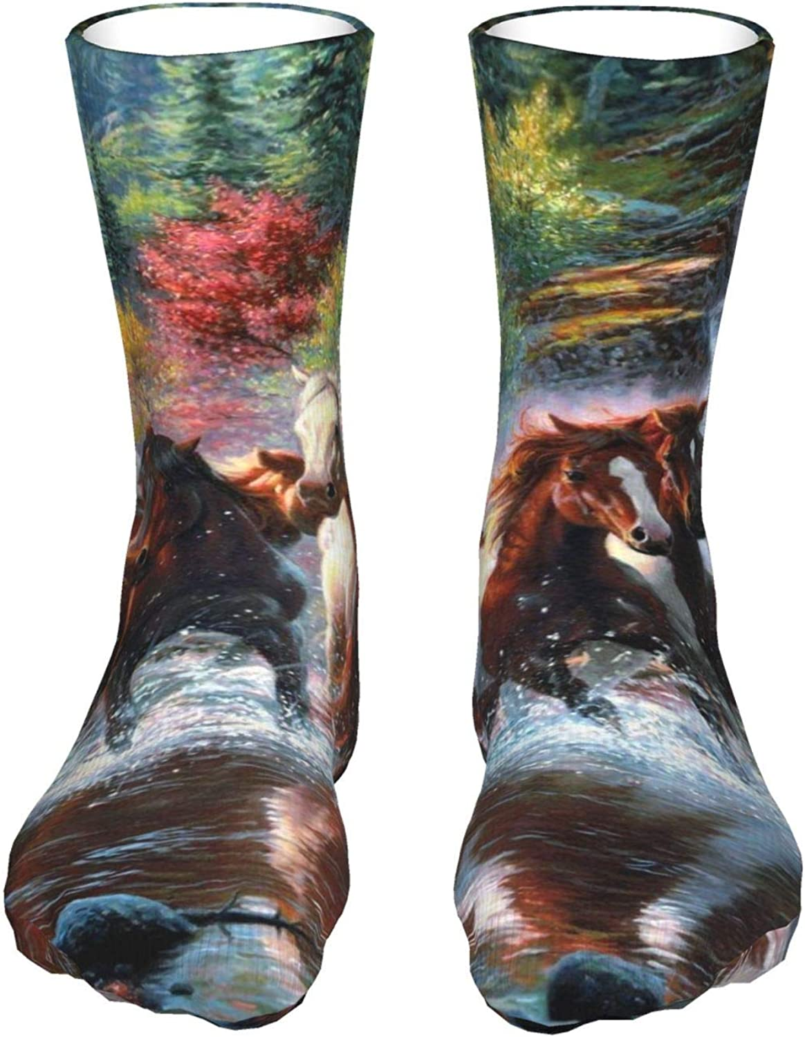 Great interest Abstract Horse Drawingteen'S Sockings Casua Boy'S Sale Special Price Breathabl Soft