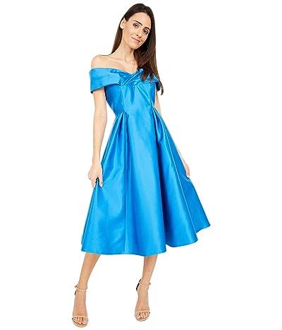 Adrianna Papell Off Shoulder Mikado Midi Dress Women