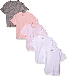 Baby Toddler Girls' Set of 5 Organic Crew-Neck Short-Sleeve T-Shirts