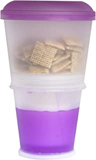 Innovia Imports II-202 Go Cereal Food Container, Blue, Purple