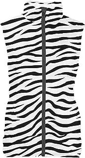 Rainbow Rules Zebra Print Womens Puffer Vest Bodywarmer Gilet