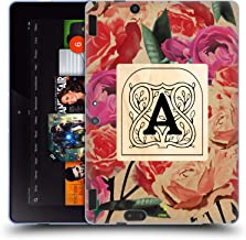 Custom Customized Personalized Trendy Monograms Vintage Soft Gel Case Compatible for Amazon Kindle Fire HDX 8.9