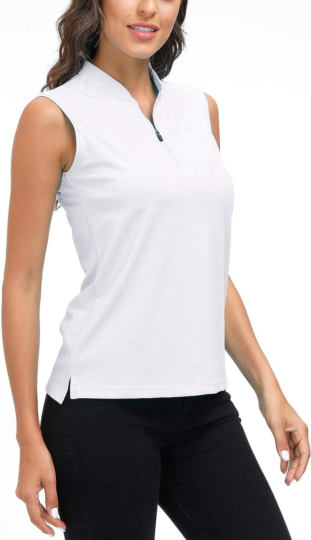 MoFiz Women's Tennis Limited price Philadelphia Mall Shirt Sleeveless Sport Polo Acti Golf
