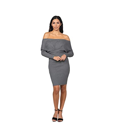 Bebe Off Shoulder Sweater Midi Dress