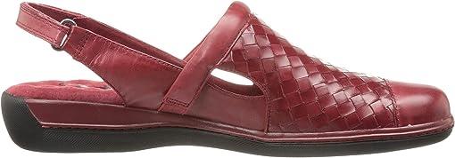 Dark Red Burnished Veg Leather